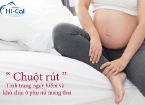 chuột rút khi mang thai